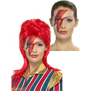 Space Superstar 80s David Bowie Makeup Lightning Bolt Kit