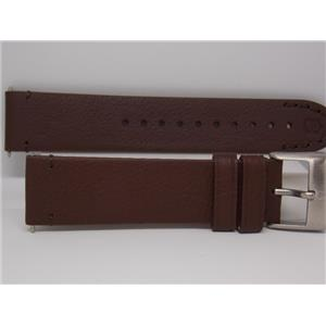 Swiss Army Watch Band 005369 Brown Leather Strap/Watchband Alliance Chronograph