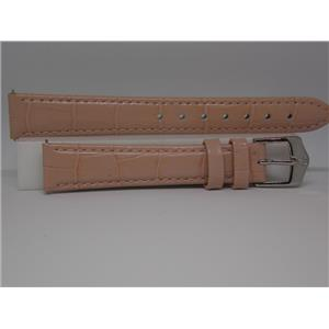Wenger Watch Band 14mm Pink Ladies Leather Strap w/Spring Bars. Logo Buckle