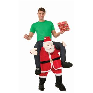 Special Delivery From Santa Man Riding Santa Claus Christmas Mascot Costume