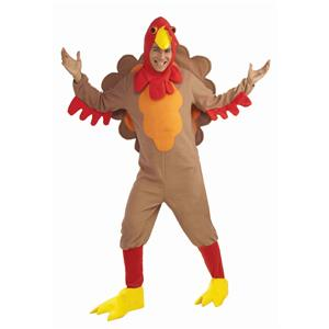 Fleece Turkey Adult Thanksgiving Costume