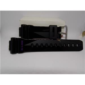 Casio Watch Band GLX-6900 -1.G-Lide G-Shock Shiny Black Strap with Graphics