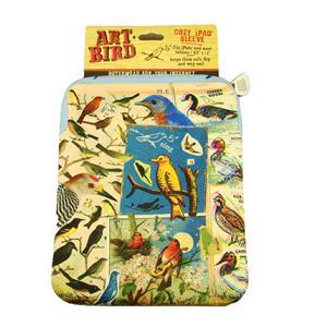 """Cozy Art Bird Zippered ipad/Tablet Case 7-1/2"""" x 10-1/4"""""""