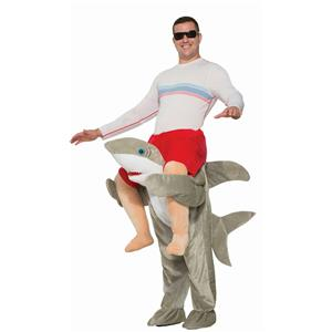 Ride a Shark Funny Adult Shoulder Rider Costume