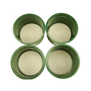 """Stackable Plastic Sieve / 4 screens Classifying 1/4""""-1/10""""-1/20""""-1/30"""" Mesh-Gold"""