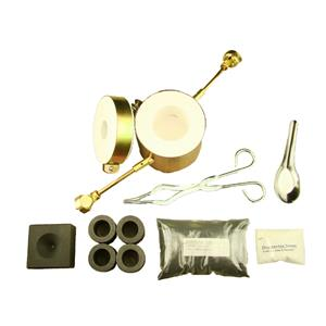 Propane Gas Fast Furnace Kit-Conical Mold, Kiln, Tips, 4-Crucibles, Tongs - Mini