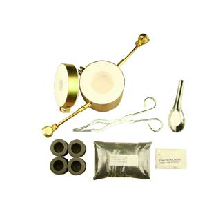 Propane Gas Fast Furnace Kit-Kiln, Tips, 4-Crucibles, Tongs - Mini