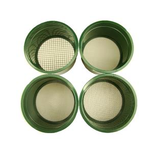 """Stackable Plastic Sieve / 4 screens Classifying 1/4""""-1/10""""-1/30""""-1/60"""" Mesh-Gold"""