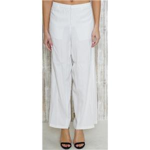 10 Vince White Wide Leg Elastic Waist Mid-Rise Cotton Blend Zip/Fly Closure Pant
