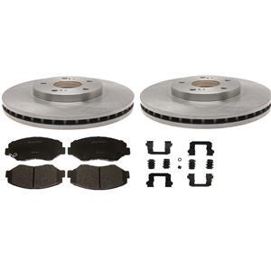 Toyota Prius brake pad rotor Kit 2004-2009 Front with ceramic pads & hardware