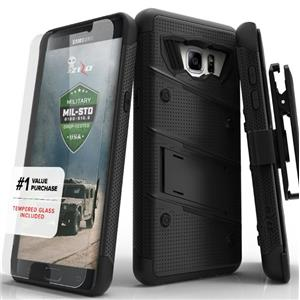 Zizo Bolt Cover Phone Case & Tempered Glass - Black - iPhone 7 Plus