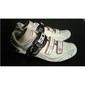 Sidi Genius 5.5 Carbon Composite Steel/White Cycling Shoe - EU 45 US 10.5
