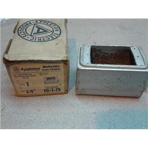 Appleton FD 1-75 3/4 Flush Device Box For Threaded Rigid Conduit And Imc