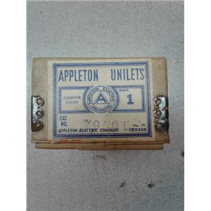 "Appleton Electric Company 79N01 Cadmium Finished 1/2"" Unilets"