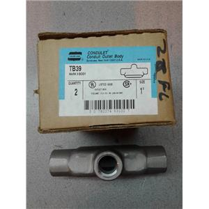 """Crouse-Hindes TB39 1"""" Condulet Conduit Outlet Body"""