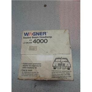 Wagner 4000 Sealed Beam Headlamp, 12V, Lo Beam