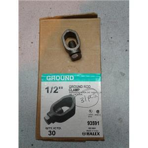"Halex 93591 Ground Rod Clamp, 1/2"" Box of 30"