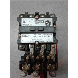 Westinghouse A200MACAC Starter 460/575V 9A Size 00