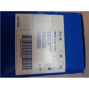 Leviton 022-PJ1-W One Gang Switch Cover White Box of 20