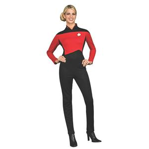 Deluxe Star Trek Next Generation Commander Uniform Womens Jumpsuit Red X-Small