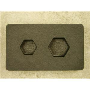 1 oz & 1/2 oz Gold Bar High Denisty Graphite Hexagon Mold Combo Copper USA made