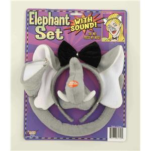 Animal Costume Set Elephant Ears Nose Tail with Sound Effects