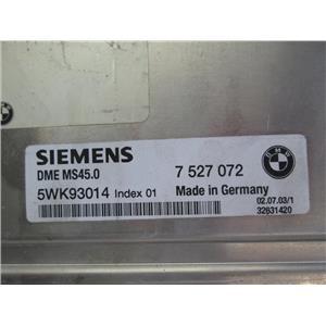 BMW DME ECU engine control module 7527072 MS45