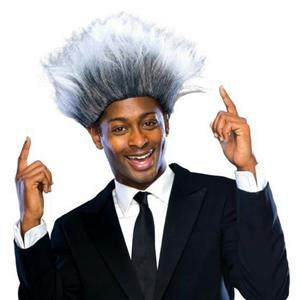 The Sports Promoter Better Quality Grey Costume Wig Don King