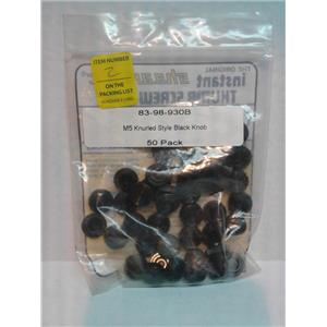 Shearloc 83-98-930B M5 Knurled Style Black Knob 50 Pack