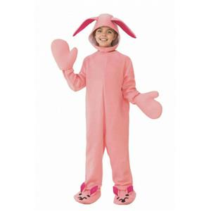 Christmas Story Pink Bunny Pajamas Bodysuit Child Costume Medium 8-10