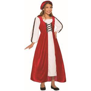 Red Renaissance Faire Dress Girls Costume Size Medium 8-10