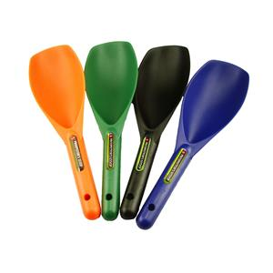 "Lot of 4-12"" Plastic Scoops-Green-Blue-Black-Orange-Gold Metal Detecting-Panning"