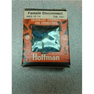 Hoffman FVDF1614T187A5 Female Disconnects Awg 14-16 Tab .187