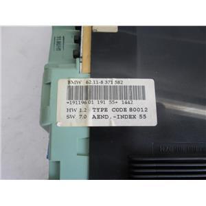 BMW E36 Z3 instrument cluster 62118371582