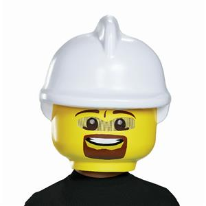 LEGO FIrefighter Plastic Costume Mask Child Size