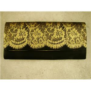 Elegant Ladies Evening Black and Gold Clutch Bag