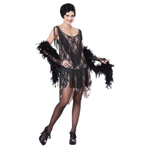 Gatsby Gal 1920's Flapper Adult Costume Size Large 10-12