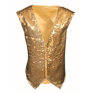 Gold Sequin Vest  Child Dazzle Dapper Accessory 1980s Up to Size 10