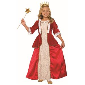 Princess Rachel Red Child Queen Kids Halloween Costume Medium 8-10