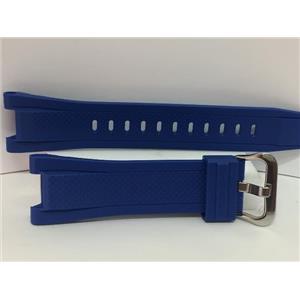 Casio Watch Band GST-S300 G-2, GST-W300 G-2  Blue Resin G-Shock Strap. Watchband
