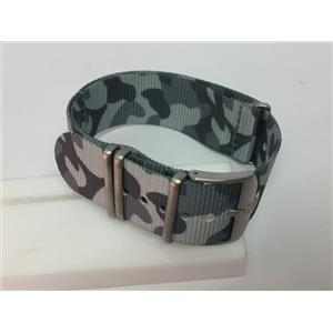 Luminox Watchband 3507 Camouflage 23mm Wide One Piece Loop Thru Webbing Strap.