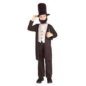 President Kids Abraham Lincoln Child School Report Costume Large