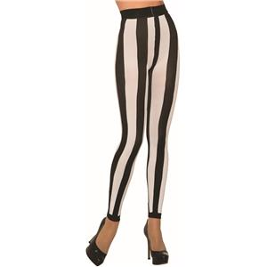 Beetlejuice Pirate Footless Black and White Leggings