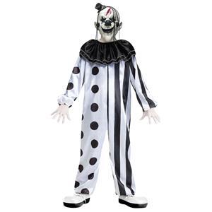 Black and White Killer Clown Child Costume Size Medium 8-10