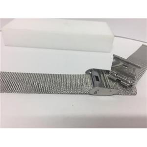 Wenger Watch Bracelet 18mm Mesh Clip on Band. Fits most 18mm wide watches.