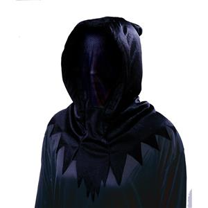 Deluxe Hidden Invisible Face Ghoul Ghost Shadow Man Black Hood Mask
