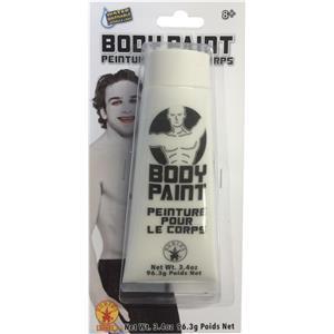White Rubie's 3.4oz Tube Makeup Body Paint
