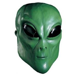Green Alien Overhead Adult Mask