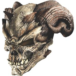 Cave Demon Horned Ram Skull Adult Mask