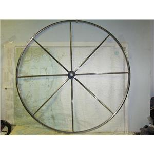 "Boaters Resale Shop of TX 1806 0125.01 SS 42"" STEERING WHEEL W/ 1"" TAPERED HUB"